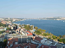 City centre Bosphorus view apartment luxury