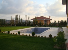 Bahcesehir villa with many luxury facilities